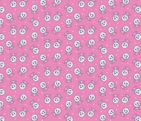 mystic_cats_collection_crystal_balls fabric by pinkowlet on Spoonflower - custom fabric