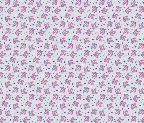 Pink & Gray Crystals fabric by pinkowlet on Spoonflower - custom fabric