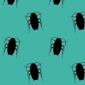 Turquoise Cockroach Fabric