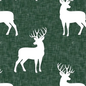 bucks on green linen