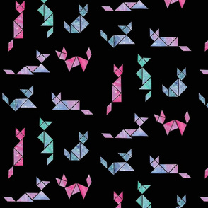 Tangram Space Cats