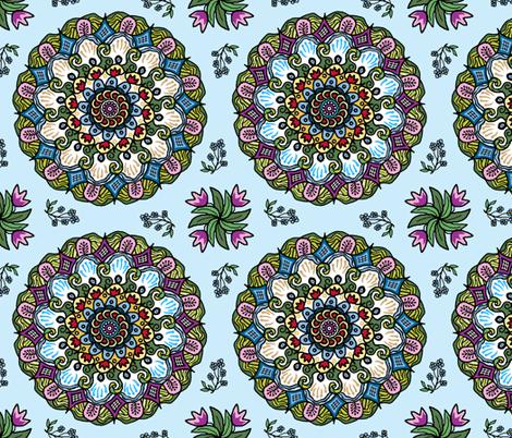 Mandala_Love_AA fabric by khowardquilts on Spoonflower - custom fabric
