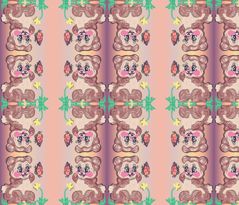 bearly_spring fabric by hojodojo on Spoonflower - custom fabric