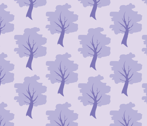 Sweet Trees - Lavender/lilac purple Forest fabric by sugarpinedesign on Spoonflower - custom fabric