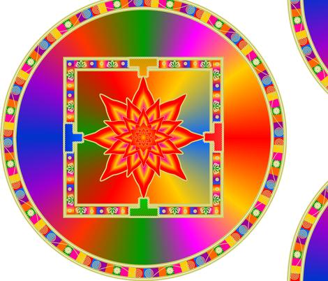 Rainbow Mandala fabric by fatcat_designs on Spoonflower - custom fabric