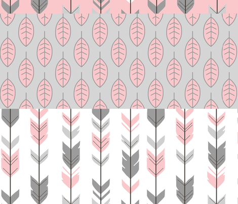 meadow sunrise row quilt rotated for multiple yard cuts fabric by sugarpinedesign on Spoonflower - custom fabric