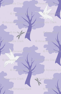 Hummingbird Forest - Purple