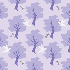 Hummingbird Forest - Purple