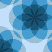 Blue ghost mandalas, a zen design by Su_G