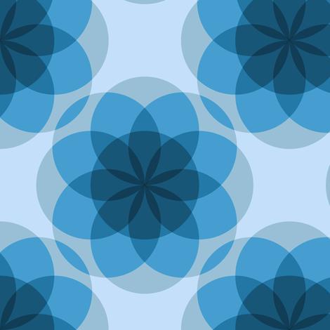 Blue ghost mandalas by Su_G fabric by su_g on Spoonflower - custom fabric