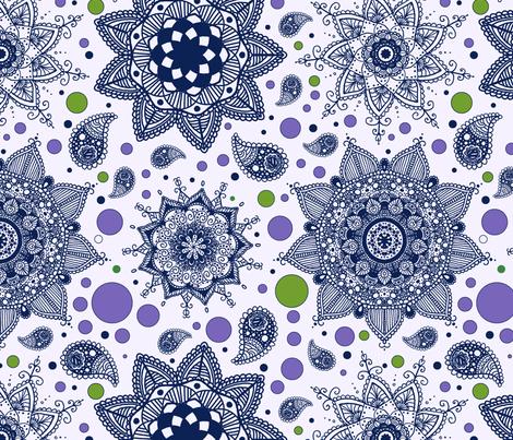Fynnzillas-Mandala-violet fabric by fynnzilla_25a on Spoonflower - custom fabric
