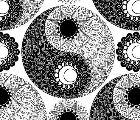 Moon and sung fabric by analinea on Spoonflower - custom fabric