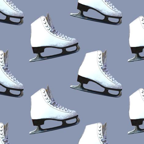 Ice Skates on Light Blue fabric by linda_baysinger_peck on Spoonflower - custom fabric