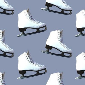 Ice Skates on Light Blue