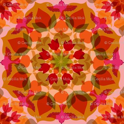 Mandala Eden Birds - Ruby