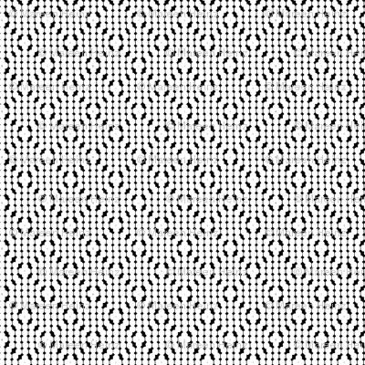 Geomtric Octagon Pattern white / black