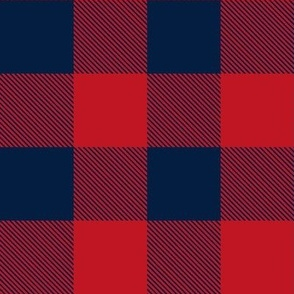 Buffalo Check in Red and Navy 2""