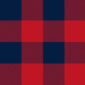 Revised Buffalo Check in Red and Navy-ch