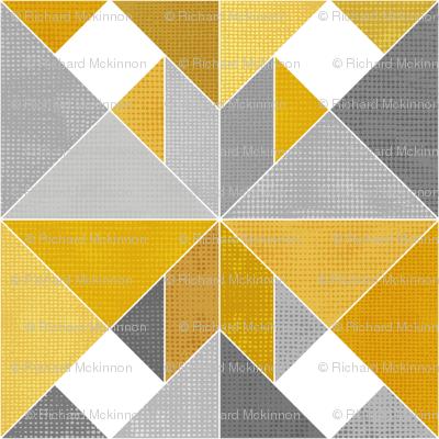 Golden Yellow Textured Tangram