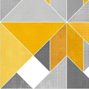 Golden Yellow Textured Tangram