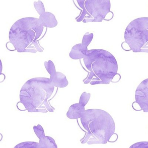 "3"" watercolor bunnies (purple) 
