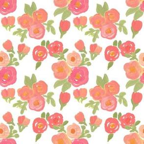 Pink & Orange Florals