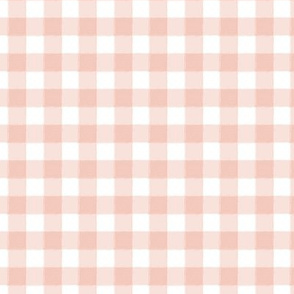 Tiny Buffalo Check Plaid Blush Pink