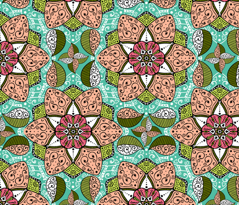 Garden Mandala fabric by cherishedminky on Spoonflower - custom fabric