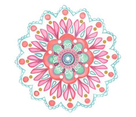 Mandala cushion fabric by michellegracedesign on Spoonflower - custom fabric