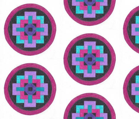 Mandala fabric by kate's_kwilt_studio on Spoonflower - custom fabric