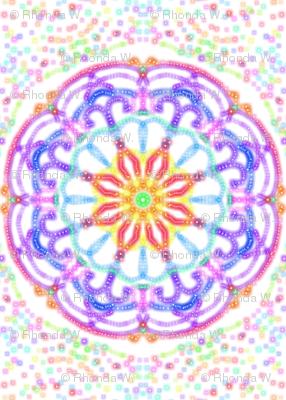 Cosmic Dream Circles on Winter White