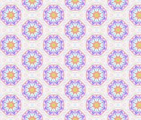 Cosmic Dream Circles on Winter White fabric by rhondadesigns on Spoonflower - custom fabric
