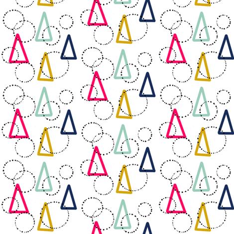 Love_Triangles  sewindigo fabric by sewindigo on Spoonflower - custom fabric