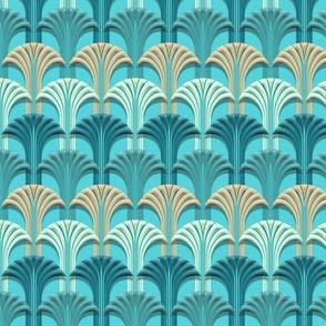 Deco Fan Aqua Blu small