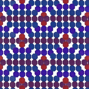 Warm  Geometric Octagon Pattern  Violet - Red