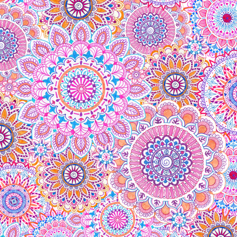 mandala-daze fabric by julistyle on Spoonflower - custom fabric