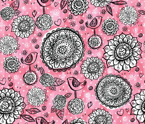 Painted Mandala fabric by cynthiafrenette on Spoonflower - custom fabric
