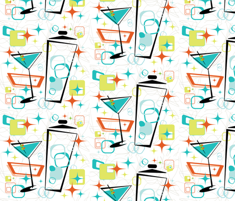Martinis A-Go-Go fabric by cricketstudioinc on Spoonflower - custom fabric