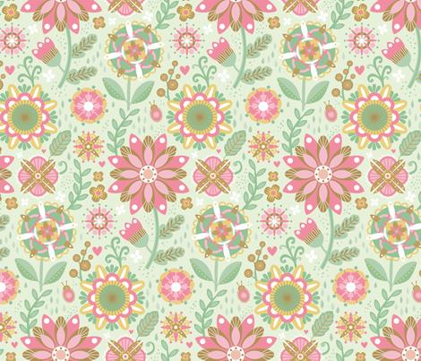 Blooming Mandalas fabric by designs_by_lisa_k on Spoonflower - custom fabric