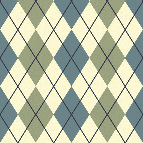 Bayeux Argyle Blue and Green fabric by eclectic_house on Spoonflower - custom fabric