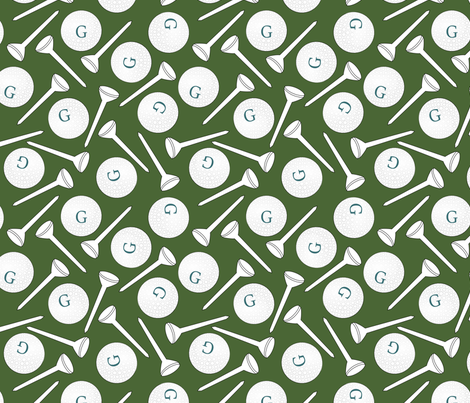 G is for Golf fabric by pamelachi on Spoonflower - custom fabric