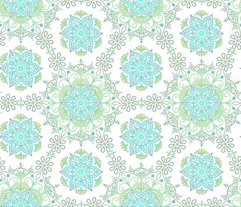 Mandala_Cerulean Sand fabric by mia_valdez on Spoonflower - custom fabric