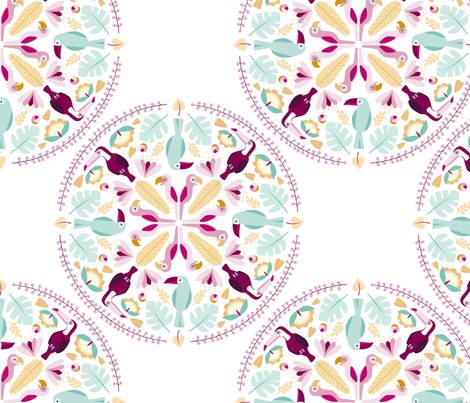 rainforest mandala fabric by heleenvanbuul on Spoonflower - custom fabric