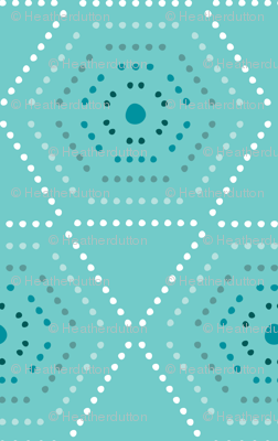 Dharma - Hexagon Geometric Dot Aqua Blue