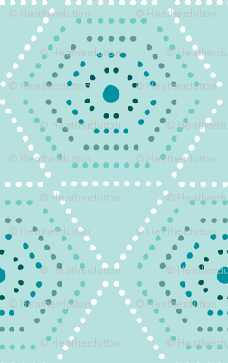Dharma - Hexagon Geometric Dot Light Aqua Blue