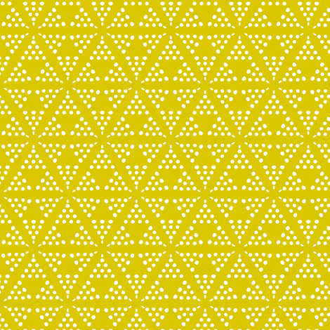 Retreat - Modern Geometric Dot Yellow fabric by heatherdutton on Spoonflower - custom fabric