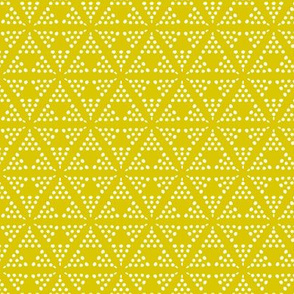 Retreat - Modern Geometric Dot Yellow