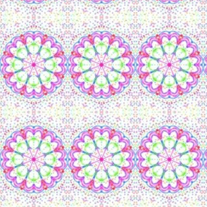 Spinning Circles of Sweethearts on Speckled White