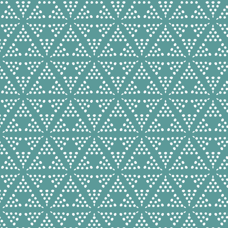 Retreat - Modern Geometric Dot Teal Blue fabric by heatherdutton on Spoonflower - custom fabric