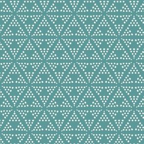 Retreat - Modern Geometric Dot Teal Blue